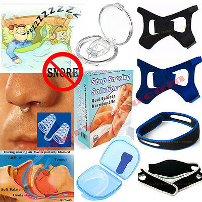 Stop Snoring Sleep Aids Magnetic Silicone Nose Clip Guard Aid Chin Strap Device