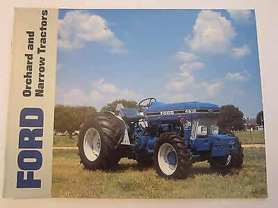 1987 Ford Orchard & Narrow Tractor Brochure 3910 4610 6610 7610 LOTS More Listed
