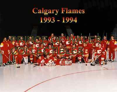 1994 Calgary Flames Team Photo 8X10
