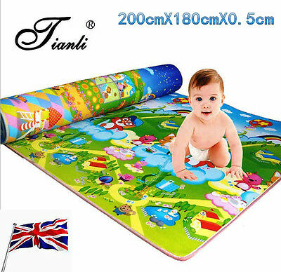 NEW Baby Kid Toddler Crawl Foam Soft Play Game Mat Carpet Picnic 200cm*180cm