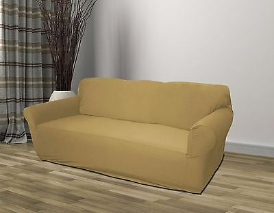 Tan/linen Jersey Sofa Stretch Slipcover, Couch Cover, Furniture Sofa, Kashi Home