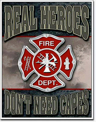 Firefighter Fire Department Decor Shield Poster Picture Station Protection 596