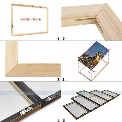 Canvas Stretcher Bars Wooden Frames for Giclee Prints Quality Free Hanging Kits