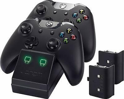 Venom Xbox One Twin Charging Dock with 2 Rechargeable Battery Packs - Black