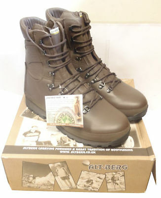 British Army Altberg Brown Combat Defender Boots - Various Good Sizes - New