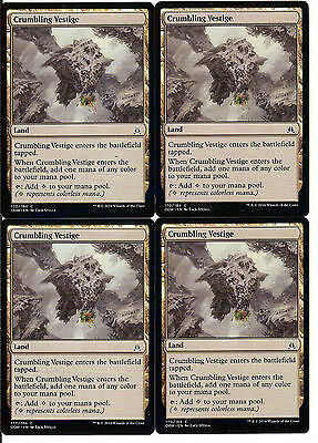 mtg Magic 4x Crumbling Vestige ( Vestigio desmoronandose ) ENGLISH EXCELLENT+