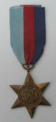 Genuine British Army Ww2 1939-45 Star Medal & Ribbon