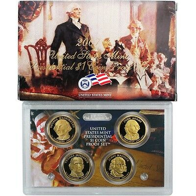 2007 S Presidential Dollar Proof 4 Coin Set United States Mint