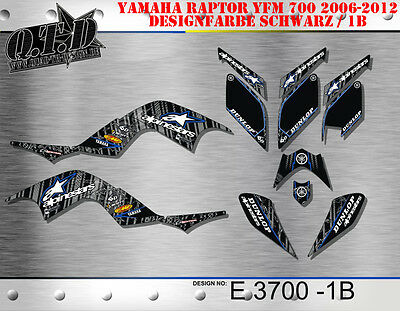 Motostyle-Mx Dekor Kit Atv Yamaha Raptor 700 2006-2012 Graphic Kit E3700 B