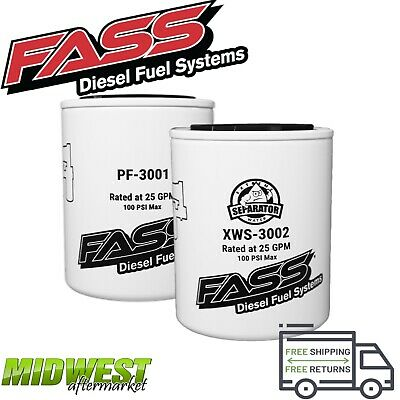 FASS FUEL SYSTEM Replacement Fuel Filter & Water Separator