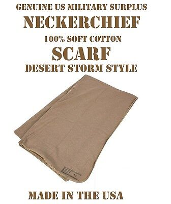 Us Military Army Coyote Brown Cotton Jersey Knit Neckerchief Balaclava Scarf New