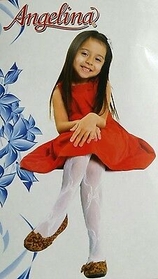 NEW Angelina 316 WEDDING Flower Girls PAGEANT Party Nylon Bowtie Lace Pantyhose
