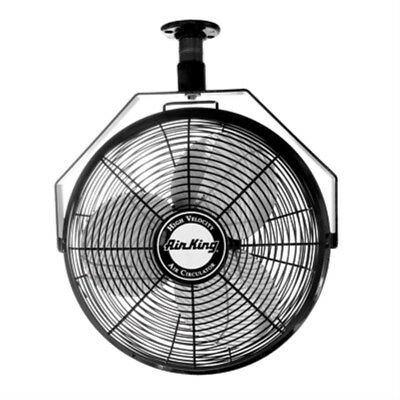 "Air King 9718 18"" 1/6 HP Industrial Grade High Velocity Ceiling Mount Fan"