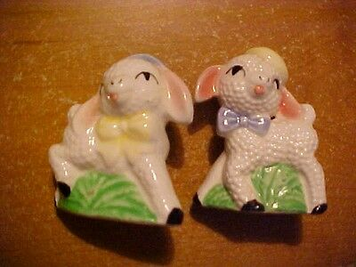 Vintage Salt And Pepper Shakers, Lambs