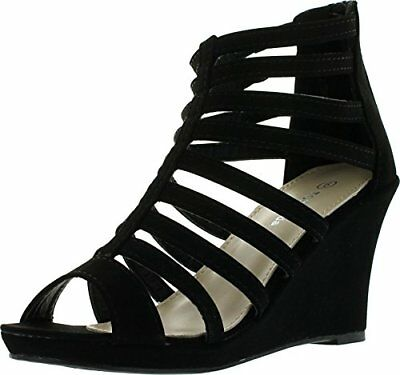 NEW Women's Zipper Open Toe Strappy Platform Heel Wedge Sandal shoes Size 6 - 10