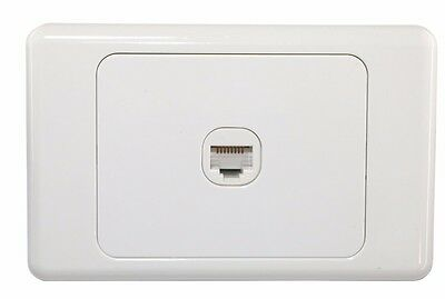 1 Gang Wall Plate outlet Clipsal Style RJ45 Cat 6 Data Network LAN Jack