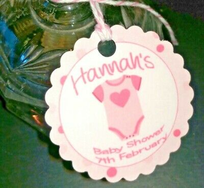 Baby Shower Favour/thank You Gift Tags, Pink Girl, Blue Boy, Romper Suit, Baby