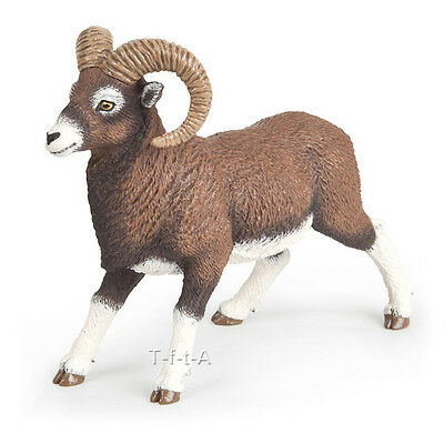 FREE SHIPPING   Papo 53018 Bighorn Ram Mountain Sheep Model Toy - New in Package