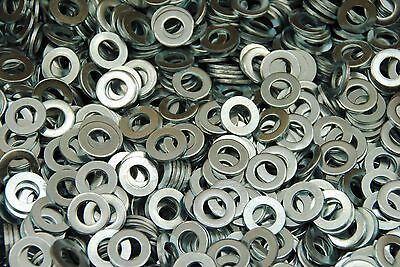 (1000) Metric M10 Flat Washers - Zinc Plated 10mm