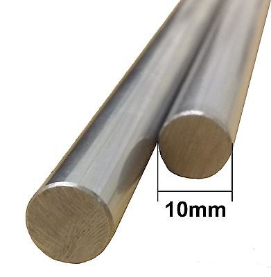 3D Printer 10mm Chrome Steel Smooth Rod - Upto 1m Linear Rail Bar shaft, RepRap