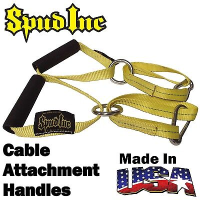 SPUD INC Cable Attachment Handles Biceps Triceps Gym Weight Training Crossover