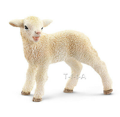 FREE SHIPPING | Schleich 13744 Lamb Standing Baby Sheep Toy - New in Package