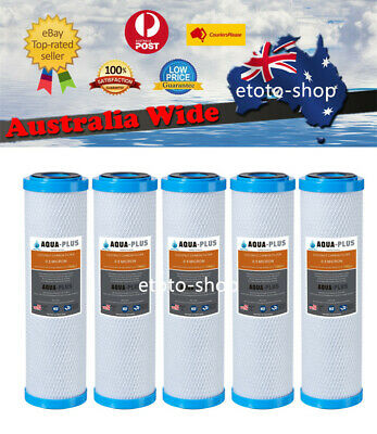 "5 X 0.5 Micron Carbon Water Filter Cartridges -10"" x 2.5"""
