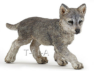 FREE SHIPPING | Papo 50162 Wolf Cub Realistic Wild Animal Toy - New in Package