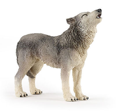 FREE SHIPPING | Papo 50171 Howling Wolf Wild Forest Animal - New in Package