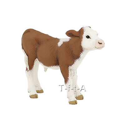 FREE SHIPPING   Papo 51134 Simmental Calf Farm Animal Figurine - New in Package