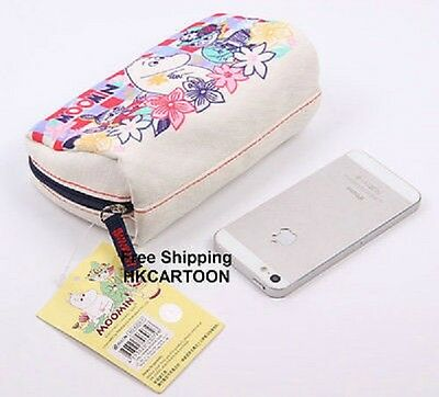 Japan Moomin Valley Moomin Canvas Print Pouch Cosmetic Bag M3-6324-1
