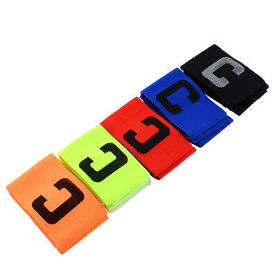 NEW Football Soccer Sports Adjustable Arm Bands Fluorescent Captain Armband