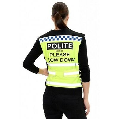 Polite Women Waistcoat Please Slow Down For  Horse Riding Fluorescent Yellow