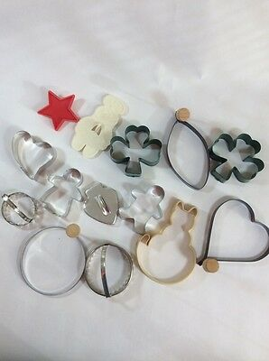 Random Lot of Cookie Cutters Cat Star Gingerbread Man 4 Leaf Clover More 14