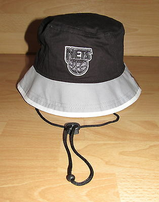 1e45aeef81b31 New Jersey Nets Brooklyn Black Top Bucket Boonie Cap Hat Size Large - New  Era