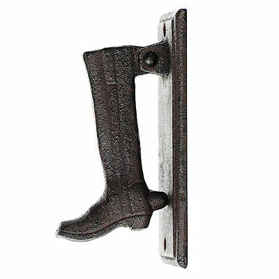 cast iron front boot door knocker banger rustic vintage retro old fashioned gift