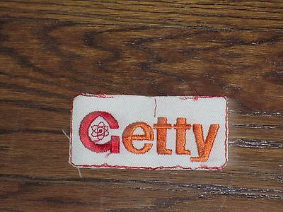 getty patch, new old stock, 1960's, no border set of 2
