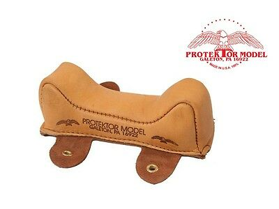 Protektor Model - New Empty #3 Leather Front Owl Bag Shooting Rest Made In Usa