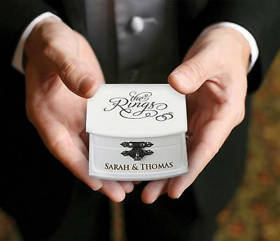 Personalised Wedding Ring Bearer Ceremony Box Page Boy Cushion Alternative