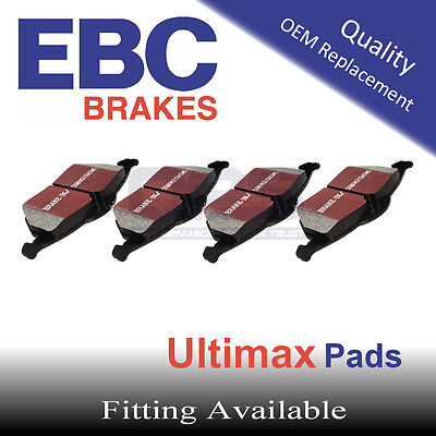 EBC UltiMAX Rear Brake Pads for FIAT Coupe 2.0 16v Turbo, 95-97(Option 2)