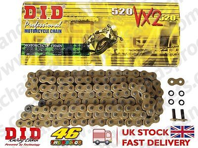 DID Gold Heavy Duty X-Ring Motorcycle Chain 520VX2GB 82 links + Rivet link