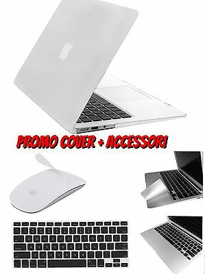 Cover Custodia Per Macbook Air 13.3 Plastica Rigida Gommata  Accessori A Scelta