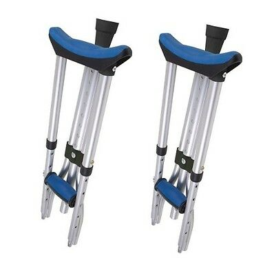 (1 Pair) Carex A99500 Folding Crutches Universal Size