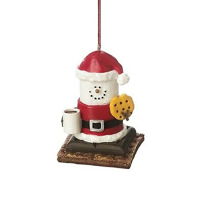 S'mores Santa With Cookie and Hot Cocoa Midwest-CBK Christmas Ornament - NEW