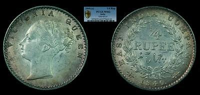 1840.(c) 1/4 Rupee PCGS MS62 (India - British - East India Company)