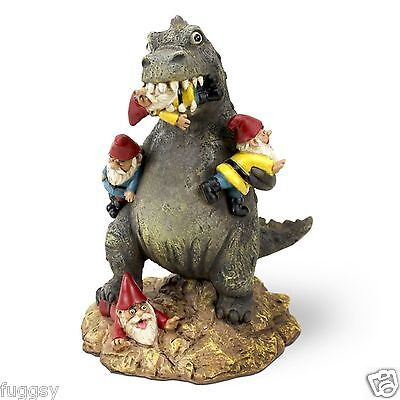 The Great Garden Gnome Massacre T-REX by BigMouth Inc Garden or Indoor Gift  NEW
