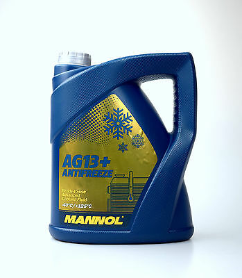 Coolant Antifreeze AG13+ Yellow Ready Mixed -40°C 5 litres German 5L READYMIX