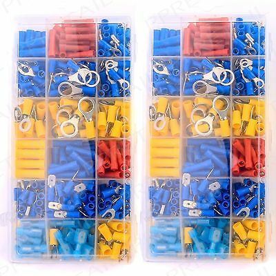 720Pc Assorted  Insulated Crimp Connectors Electrical Wire Terminals Car Engine