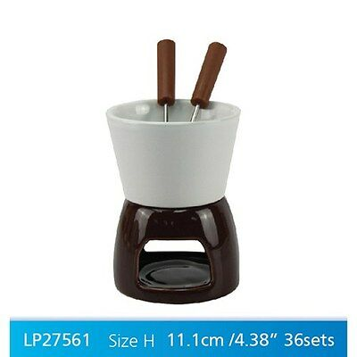 chocolate fondue mug cup set with forks gift boxed present choc melted