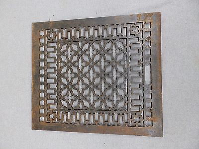 Large Antique Gothic Cast Iron Cold Air Return Vent Vintage Old Hardware 129-16